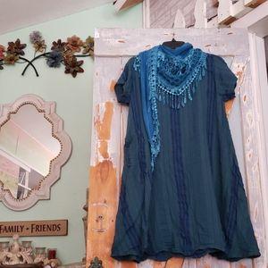 Boutique lagenlook tunic top/dress 100% cotton
